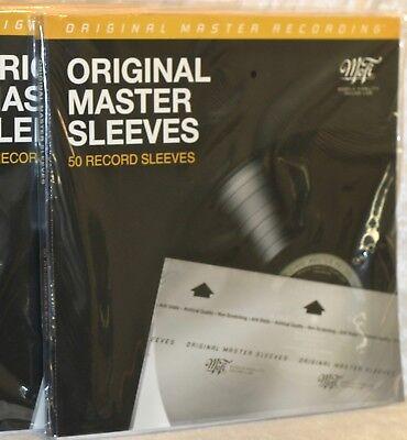 *NEW* 50 MOFI - Mobile Fidelity Sound Lab - MFSL Vinyl LP Record Inner Sleeves 8