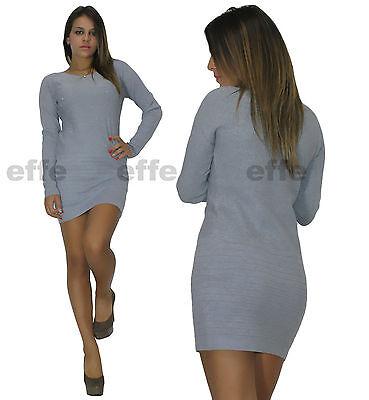 ... Vestito donna maglione Maxipull miniabito maxi maglia strass 6092 4 8fa0ca9e1f5