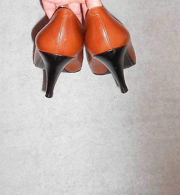 code promo bc0c7 0bbd4 ANNE KLEIN ESCARPINS « pied fin » cuir bicolore P 39 (9) TBE