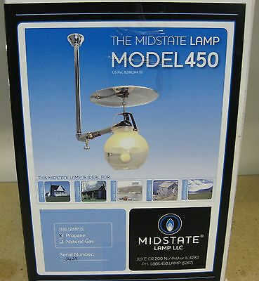 Propane Gas Lamp Model 450 Brightest Indoor Gas Light Made