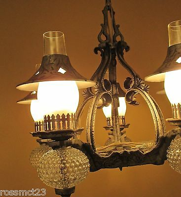 Vintage Lighting striking 1930s Spanish Tudor chandelier, and two sconces 3