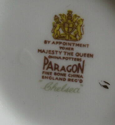 PARAGON CHELSEA   English Dinner Plate cobalt blue and gold 2