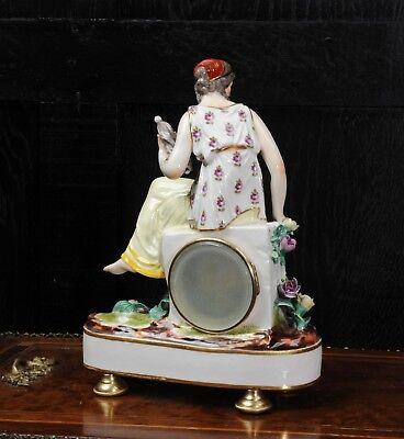 Rare Vienna Porcelain Boudoir Clock C1880 6