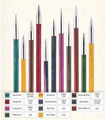 lang KnitPro Zing austauschbare Nadelspitzen alle Größen 3,0-8,00mm