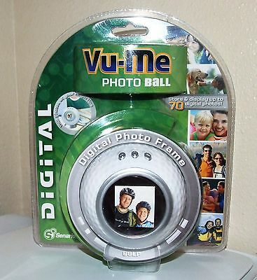 Vu-Me Photo Ball-Digital Photo Frame - Golf Model by Scenario - NEW