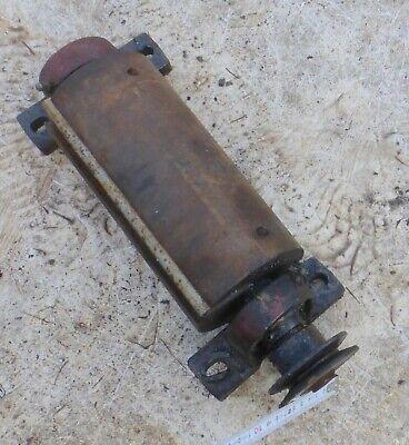 alte 🐷 Welle vom Maschine Drehmaschiene mit Umlenkrolle Ersatzteil für Bastler 10