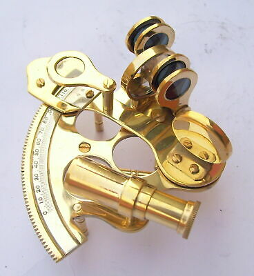 Nautical Ship Instrument Astrolabe Marine Brass Sextant 2.5'' A 5