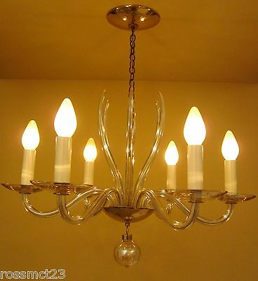 Vintage Lighting 1950s Mid Century high quality chandelier by Lightolier 10