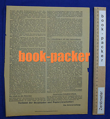 Original Flugblatt aus dem Arbeitskampf im graphischen Gewerbe Berlin 1923 [#10] 2