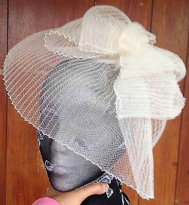 Ivory fascinator millinery burlesque wedding hat hair piece ascot race bridal x 2