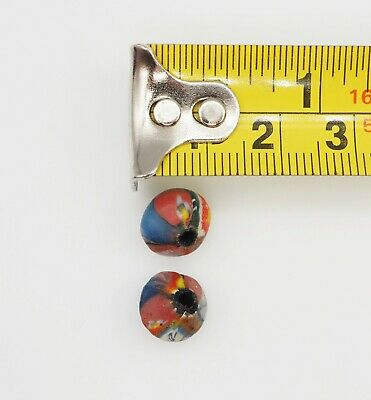 Stunning Phoenician Style Pair Of Antique Blue Yellow Face Islamic Glass beads 9