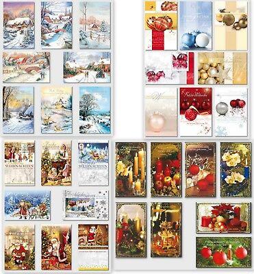 gute Auswahl an Weihnachtskarten,Glückwunschkarten mit Umschlag, Blitzversand 3