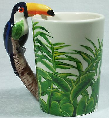 Ceramic Mug TOUCAN Bird in Rain Forest 9319844520058 RAINFTOUM Gift Box 6