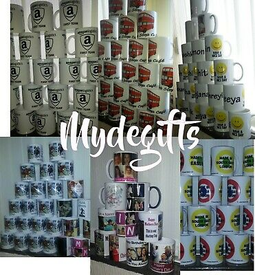 Personalised Mug Collage Photo Image Pictures Add Any Text Gift Tea Coffee Cup 2