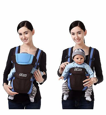 New Ergonomic Strong Breathable Adjustable Infant Newborn Baby Carrier Backpack 4