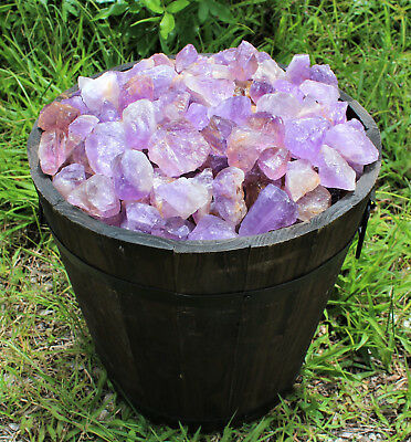 "1 Large 1"" - 2"" Rough Amethyst (Brazil) Natural Gemstone Crystal Healing Rock 4"