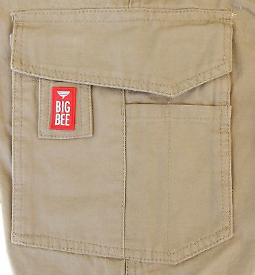 Cargo Pants Work Trousers BigBEE Elastic Band Ankle Cuff Cotton Tapered UPF 50+ 8