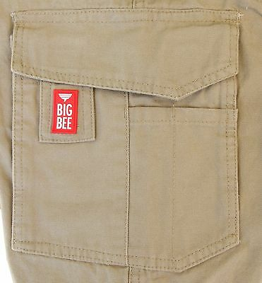 Mens Cargo Pants Trousers Elastic Banded ankle cuff, Cotton Work Wear Tapered 8