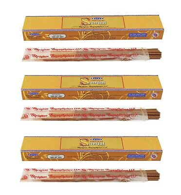 3 or 12 Pack Box Satya Genuine Nag Champa Natural Incense Sticks Joss - Fresh 5