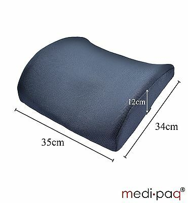 Memory Foam Seat Back Pain Support Booster Cushion Car Lumbar Lower Back Ache