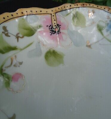 ANTIQUE EARLY Hand Painted MORIAGE Japanese PORCELAIN BOWL MADE IN JAPAN 11