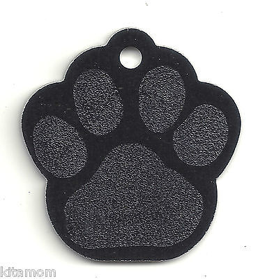 K-9 Dog Paw Animal Foot Print Pet ID Label Name Tag 4