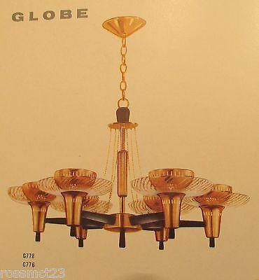Vintage Lighting extraordinary Mid Century Modern fixture by Globe 2