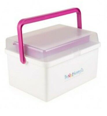 The Neat Nursery Co. Baby Box Organiser White / Blue Or Pink 3