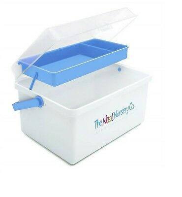 The Neat Nursery Co. Baby Box Organiser White / Blue Or Pink 2
