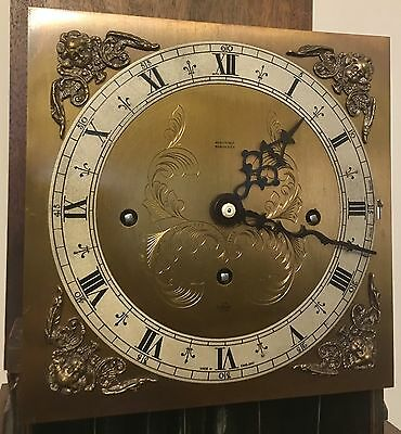 Elliott WESTMINSTER CHIME Burr Walnut Grandmother Miniature Grandfather Clock 11