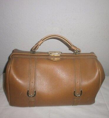 Alte Arzttasche Doktortasche Hebammentasche Hebamme Tasche Leder  Antik Vintage 2