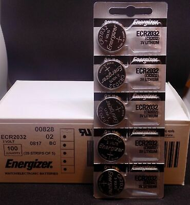 Lot of 10 Energizer ECR2032 Genuine Fresh Date CR2032 2032 Lithium 3V Batteries 2