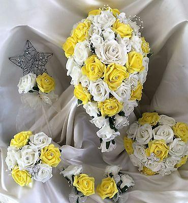 Fiori Matrimonio Mazzo di fiori, Perle & Strass Spose/Damigella/Asole 6