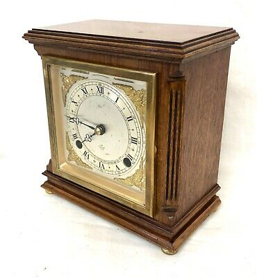 ELLIOTT LONDON Walnut Bracket Mantel Clock : Strikes Hours & Half Past 2
