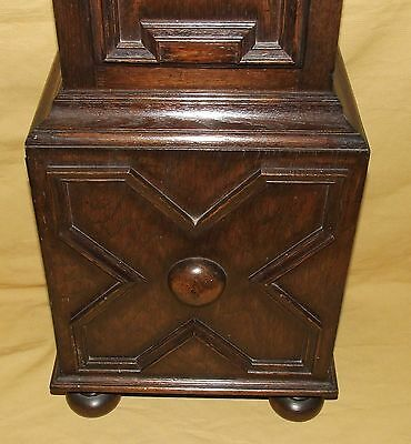 Antique 8 Day Miniature Grandfather / Grandmother Clock : Weight Driven Movement 9