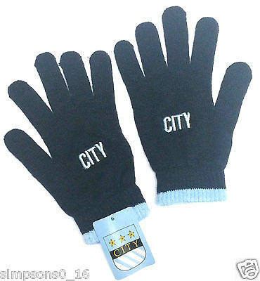 Manchester City Gloves Football Stretchable Gloves 2