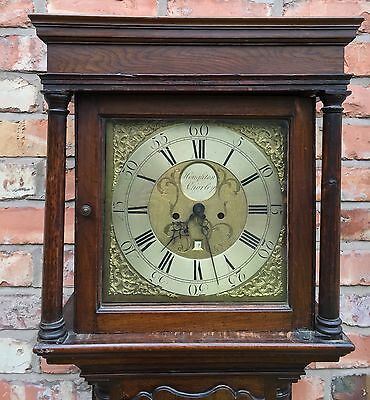 Oak 30 Hour Grand Father Clock By Houghton Of Chorley false 8day dial 2