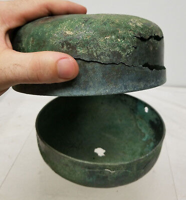 Antique Early Antiquity Covered Bronze Box Excavated Japanese Greco-Roman 4