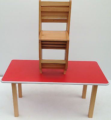 Kids Wooden Stacking Preschool Classroom Playgroup Table Chairs School Furniture