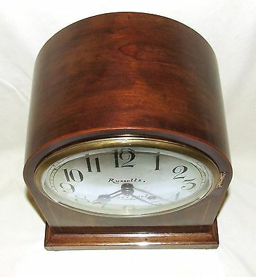 W & H Winterhald Antique Inlaid Mahogany Bracket Mantel Clock RUSSELLS LIVERPOOL 8