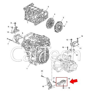 ALFA ROMEO MITO LOWER REAR ENGINE MOUNT TORQUE ROD 50510781
