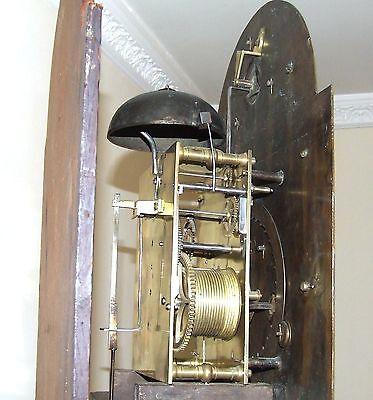 ~ RARE MONTH GOING Antique Walnut  Longcase Grandfather Clock Etherington LONDON 10