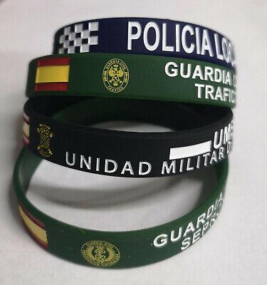 Pulseras De Silicona Militar, Policia, Guardia Civil, Legion 4