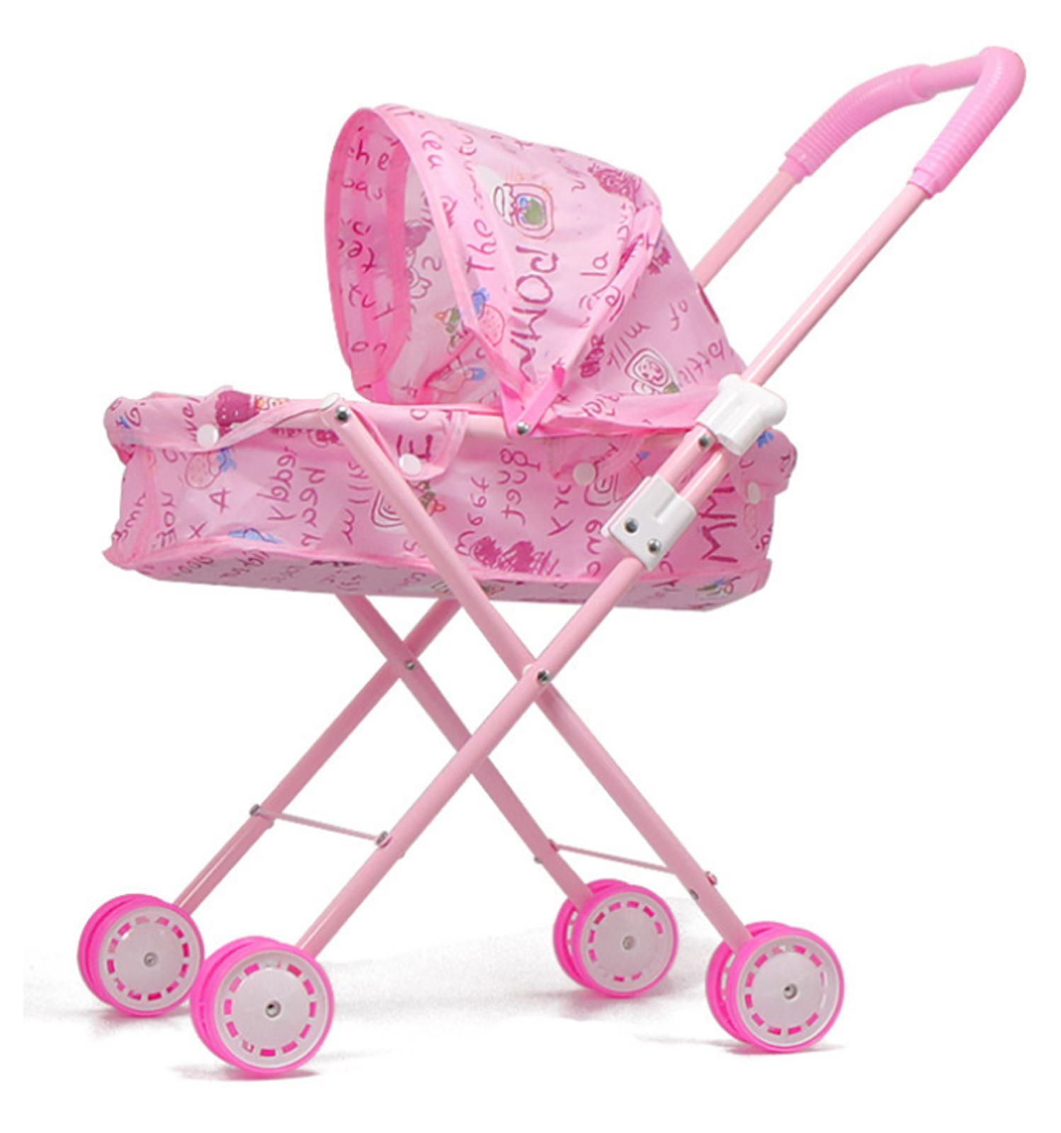 Baby Kids child Dolls Buggy Stroller Jogger Dolls Pram Pushchair Girls Toy UK 8