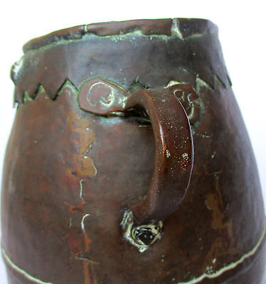 1700's, Rare Ancient 1.4kg Copper Casting Pot , Islamic Ottoman Mamluk Style 5