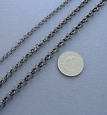 Rolo Link Chain Bracelet 6mm Gunmetal w//Lobster Claw Fits Clip ON Charms S77