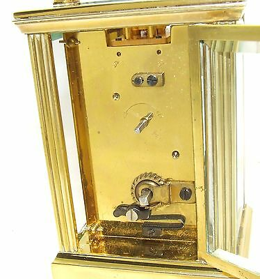 MAPPIN & WEBB Brass Carriage Mantel Clock Timepiece with Key  Working Order (61) 9