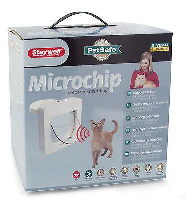 Petsafe Petporte Microchip Cat Flap Door Micro Chip - Stop Stray Cats - White