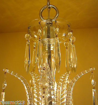 Vintage Lighting antique 1930s Art Deco crystal chandelier   High Quality 6