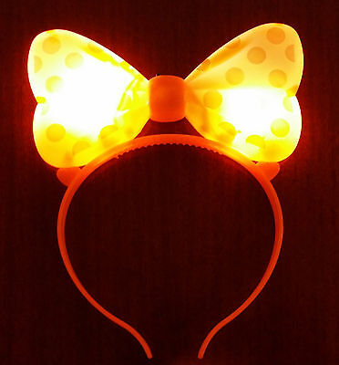 75 Pcs Light Up Minnie Mickey Mouse Ears Bows Headbands Multi Color
